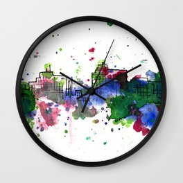 Going Downtown: Flint Wall Clock