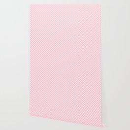 Soft Pastel Pink Large Spots Wallpaper