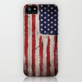 Wood American flag iPhone Case