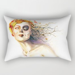 Lady Autumn Rectangular Pillow
