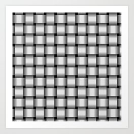 Pale Gray Weave Art Print