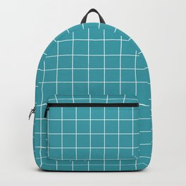 Grid Turquoise Backpack