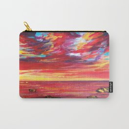 Enchanting Red Seas Impressionist Painting Carry-All Pouch