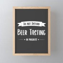 Do not Disturb, Beer Tasting in Progress Framed Mini Art Print