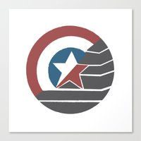 stucky Canvas Prints featuring Stucky by Brittnee-Leigh