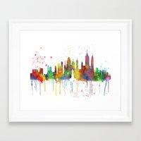 new york skyline Framed Art Prints featuring New York, New York Skyline by Marlene Watson