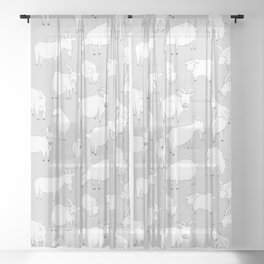 Charity fundraiser - Grey Goats Sheer Curtain