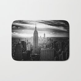 New york city black white 2 Bath Mat