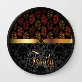 Family Is Forever Wall Clock