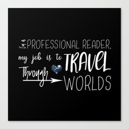 Professional Reader Canvas Print