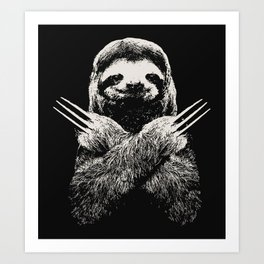 Sloth X-men Art Print