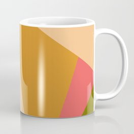 Gold Green Pink Geometric Abstract Coffee Mug