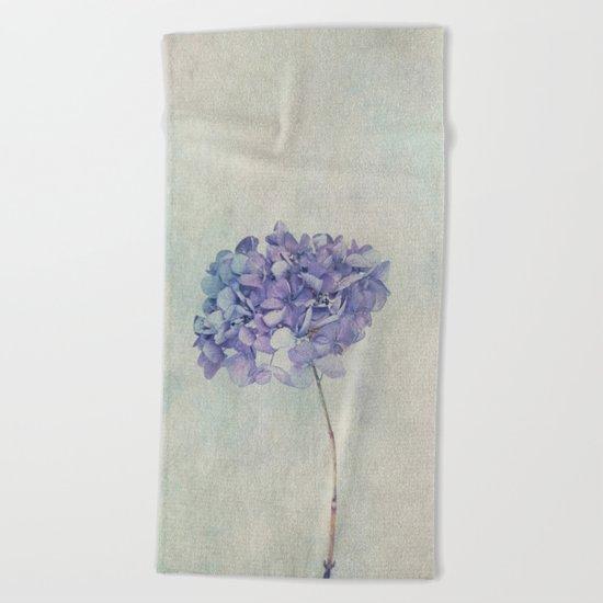 Beautiful Blue Hydrangea Beach Towel