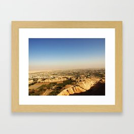 view of jericho from the monastery of the temptation Framed Art Print