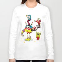 candy Long Sleeve T-shirts featuring Candy by Teodoru Badiu
