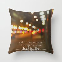 the perks of being a wallflower Throw Pillows featuring perks of being a wallflower - we were infinite by lissalaine