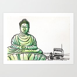 Japan : Hyogo Daibutsu Art Print