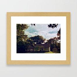 Clouds of Lawrence, Kansas Framed Art Print