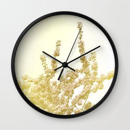 Sunlit Cherry Blossoms - Dreamy Floral Photography - Flower Art Prints, Apparel, Accessories... Wall Clock