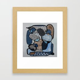 Stacked Beneath the Trees Framed Art Print