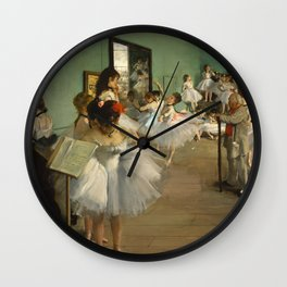 "Edgar Degas ""The dance class"" Wall Clock"