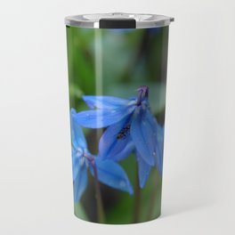 Blue Flowers 1 Travel Mug