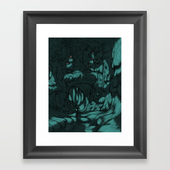 The Search for Pirx on Titan Framed Art Print