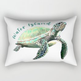 Water Island Turtle Rectangular Pillow