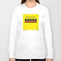 senna Long Sleeve T-shirts featuring No075 My senna minimal movie poster by Chungkong