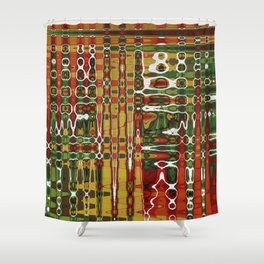 Abstract Art Work Geometic Shower Curtain