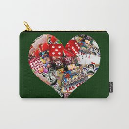 Heart Playing Card Shape - Las Vegas Icons Carry-All Pouch