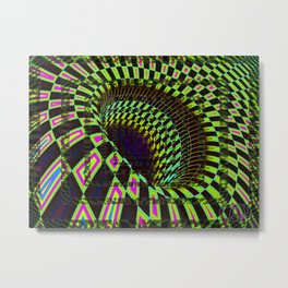 Tumbler #26 Optical Illusion Psychedelic Trippy Vibrant Design Metal Print
