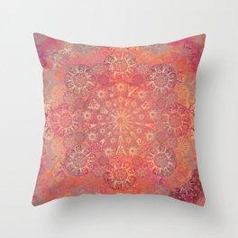 """Coral & Rosewood Mandala (pattern)"" Throw Pillow"