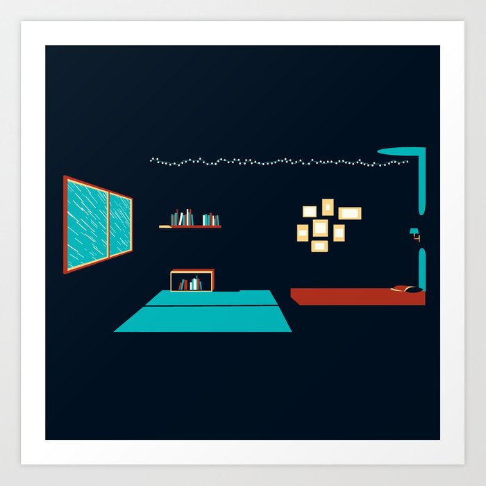In a rainy day, a place to stay Art Print