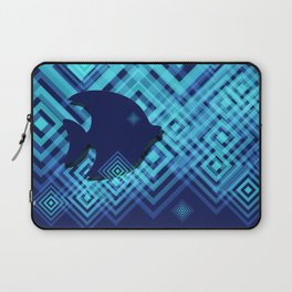 Blue Fish Angel Anglers Angles Laptop Sleeve
