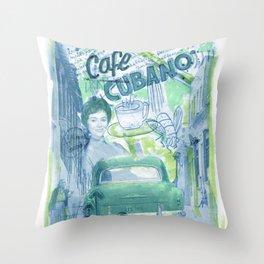 Cafe Cubano Throw Pillow