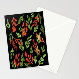 180726 Abstract Leaves Botanical Dark Mode 1|Botanical Illustrations Stationery Cards