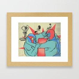 Mondo Lucha! Framed Art Print