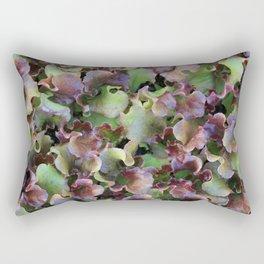 Red Leaf Lettuce Rectangular Pillow