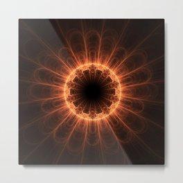 Firey Iris Metal Print