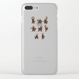 Tai Chi Chuan Martial Art Monkey T-Shirt Taijiquan Clear iPhone Case