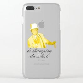 Le Champion Du Soleil Clear iPhone Case
