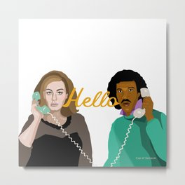 Two People Saying Hello - By Cup of Sarcasm Metal Print