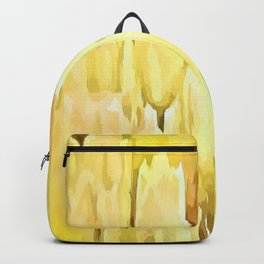 Pale Yellow Tulips Abstract Floral Pattern Backpack