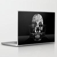 ali Laptop & iPad Skins featuring Room Skull B&W by Ali GULEC