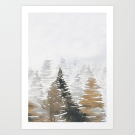 Watercolor Pine Trees 3 Art Print