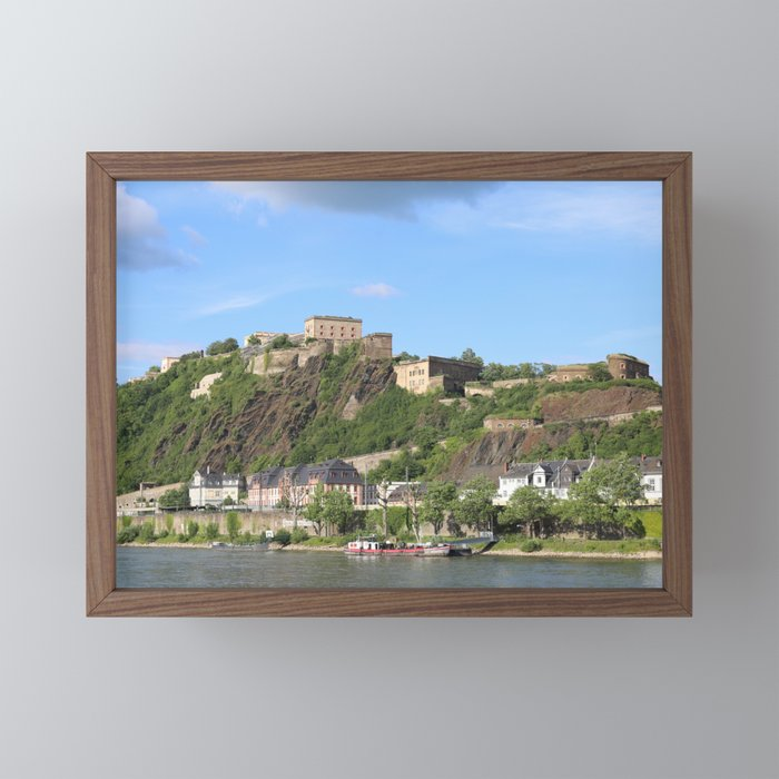 Koblenz mit Festung Ehrenbreitstein Framed Mini Art Print by Christine aka stine1 on Society6