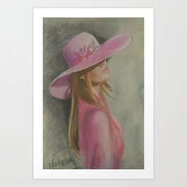 Lady in the hat Art Print