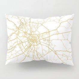 MOSCOW RUSSIA CITY STREET MAP ART Pillow Sham