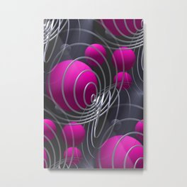 3D - abstraction -117- Metal Print